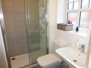 Detached Support Living Services Modern Bathroom